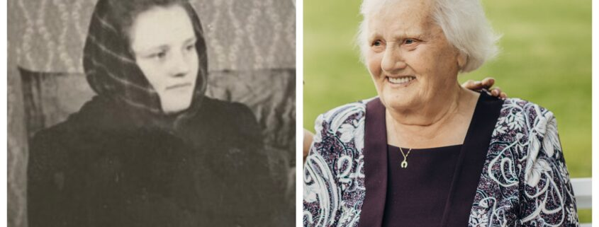 jauna rimta moteris ir besisypsanti moteris senatveje